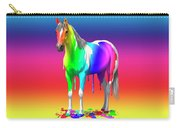 Colorful Rainbow Paint Horse Carry-all Pouch