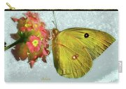 Southern Dogface Butterfly Feasting On December Lantanas Austin V2 Carry-all Pouch