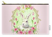 Spring Bunny Carry-all Pouch by Wendy Paula Patterson