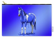 Royal Blue Wet Paint Horse Carry-all Pouch