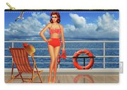 Beauty From The 50s In Bikini  Carry-all Pouch