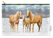 Palomino Horses In Winter Pasture Carry-all Pouch