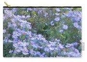 White Blue Cluster Carry-all Pouch