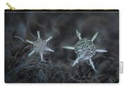 Snowflake Photo - When Winters Meets Carry-all Pouch by Alexey Kljatov