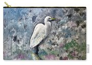 Silver Lake Snowy Egret Carry-all Pouch