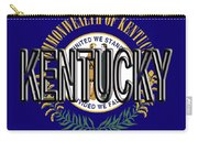 Flag Of Kentucky  Word Carry-all Pouch