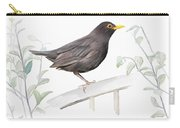 Ms. Blackbird Is Brown Carry-all Pouch by Ivana Westin