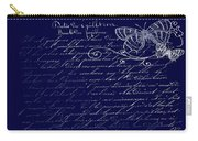 Blue Midnight Butterfly Carry-all Pouch