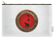 Chinese Zodiac - Year Of The Rat On White Leather Carry-all Pouch