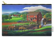 Old Red Appalachian Grist Mill Rural Landscape - Square Format  Carry-all Pouch