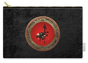 Chinese Zodiac - Year Of The Goat On Black Velvet Carry-all Pouch