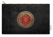 Gold Seal Of Solomon - Lesser Key Of Solomon On Black Velvet  Carry-all Pouch