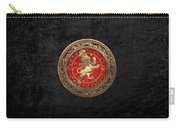 Western Zodiac - Golden Leo - The Lion On Black Velvet Carry-all Pouch
