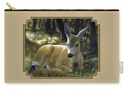 Mule Deer Fawn - A Quiet Place Carry-all Pouch by Crista Forest