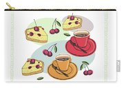 Black Cherry Pie And A Steaming Hot Cup Of Coffee Carry-all Pouch