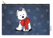 Kiniart Westie In Red Bow Carry-all Pouch