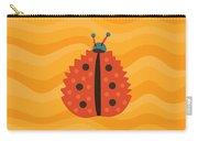 Orange Ladybug Masked As Autumn Leaf Carry-all Pouch