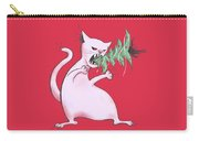 Funny White Cat Eats Christmas Tree Carry-all Pouch