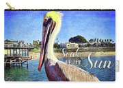 Soak Up The Sun Quote, Cute California Beach Pier Pelican Carry-all Pouch