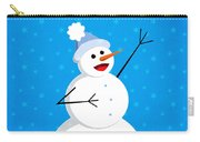 Cute Happy Snowman Carry-all Pouch