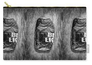 Crushed Blue Beer Can On Plywood 78 In Bw Carry-all Pouch
