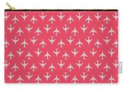 747 Jumbo Jet Airliner Aircraft - Crimson Carry-all Pouch