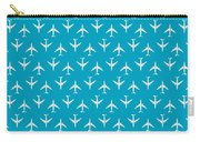 747 Jumbo Jet Airliner Aircraft - Cyan Carry-all Pouch