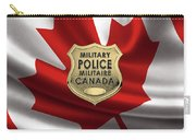 Canadian Forces Military Police C F M P  -  M P Officer Id Badge Over Canadian Flag Carry-all Pouch