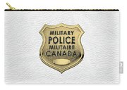 Canadian Forces Military Police C F M P  -  M P Officer Id Badge Over White Leather Carry-all Pouch