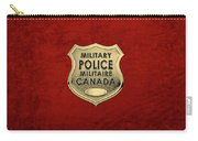Canadian Forces Military Police C F M P  -  M P Officer Id Badge Over Red Velvet Carry-all Pouch