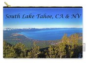 South Lake Tahoe, Ca And Nv Carry-all Pouch
