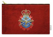 Canadian Armed Forces  -  C A F  Badge Over Red Velvet Carry-all Pouch