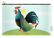 Morning Glory Rooster And Hen Wake Up Call Carry-all Pouch