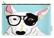 Hipster Bull Terrier Carry-all Pouch