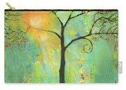 Hello Sunshine Tree Birds Sun Art Print Carry-all Pouch