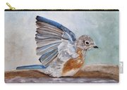 Dip Time - Eastern Bluebird Carry-all Pouch by Angeles M Pomata