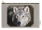 Wolf Portrait Carry-all Pouch by Crista Forest