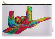 American Sign Language I Love You Carry-all Pouch by Eloise Schneider