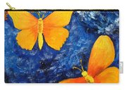 Butterfly In Blue 1 Carry-all Pouch