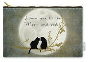 Love You To The Moon And Back Carry-all Pouch by Linda Lees