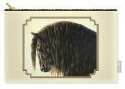 Horse Painting - Friesland Nobility Carry-all Pouch by Crista Forest