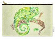 Swirly Chameleon Carry-all Pouch