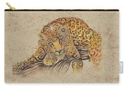 Swirly Leopard Carry-all Pouch