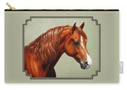 Morgan Horse - Flame Carry-all Pouch by Crista Forest