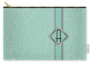 1920s Blue Deco Jazz Swing Monogram ...letter A Carry-all Pouch
