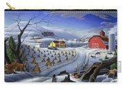 Folk Art Winter Landscape Carry-all Pouch