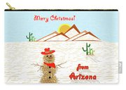 Arizona Tumbleweed Snowman Carry-all Pouch