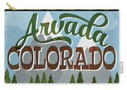 Arvada Colorado Snowy Mountains	 Carry-all Pouch