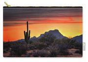 As The Sun Sets On Red Mountain  Carry-all Pouch