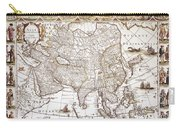 Asia: Map, C1618 Carry-all Pouch